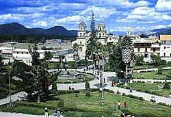 Plaza de Armas, Cajamarca, Peru. Photo: BeachcomberPete